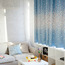 Blackout Bay Window Floral Blue Short Window Curtains