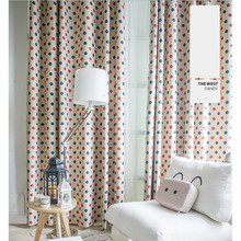 Polka Dots Design Energy Saving Kids Curtains Ideas