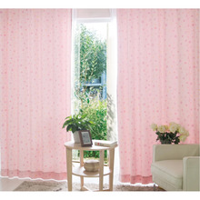 Star Patterns For Girls Kids Pink Curtains of 2 Panels