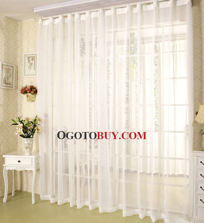 white sheer curtains in simple style suitable for home