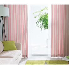 Home Curtains Designs in Pink Color of Striped Patterns