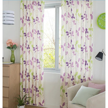 Purple Leaf Charming and Retro Curtains Drapes for Nice Home