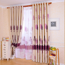 Purple Tree Patterns Windows or Front Door Curtains