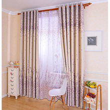 Simply Shabby Chic Curtains Decorated with Floral Patterns