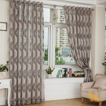 Gray Color Good Quality Two Panels Large Curtains