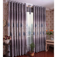 Contemporary Curtains And Drapes in Grey Color with Printing Craftsmanship