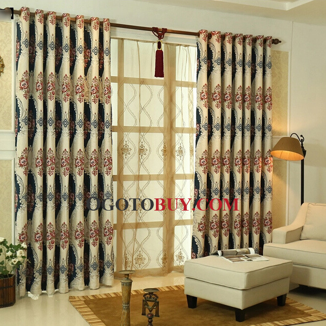 European Chenille Custom Made Thick Pleat Curtains, Buy Dark Navy ...