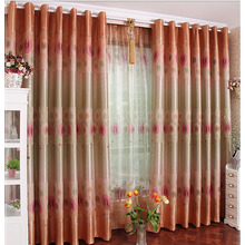 Rustic Window Curtains of Printing Craftsmanship for Bedrooms
