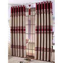 Good Quality Red Color Energy Efficient Window Curtains