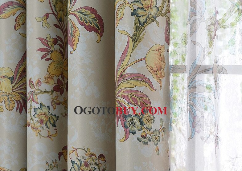 Curtains Ideas country home curtains : Custom Made Floral for Country Home Curtains Pictures, Buy Multi ...