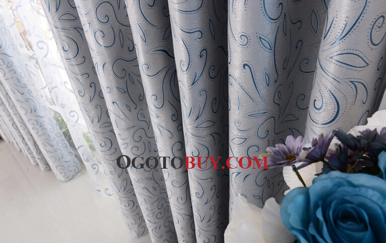 Best Price Curtains for Home in Blue of Energy Saving Style, Buy ...