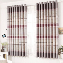 Grey Color Printed of Rose Images Cheap Floral Curtains
