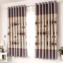 Beautiful Floral Patterns Energy Saving Porch Curtains