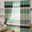 Striped Lines Living Room Green Curtains Uk Style