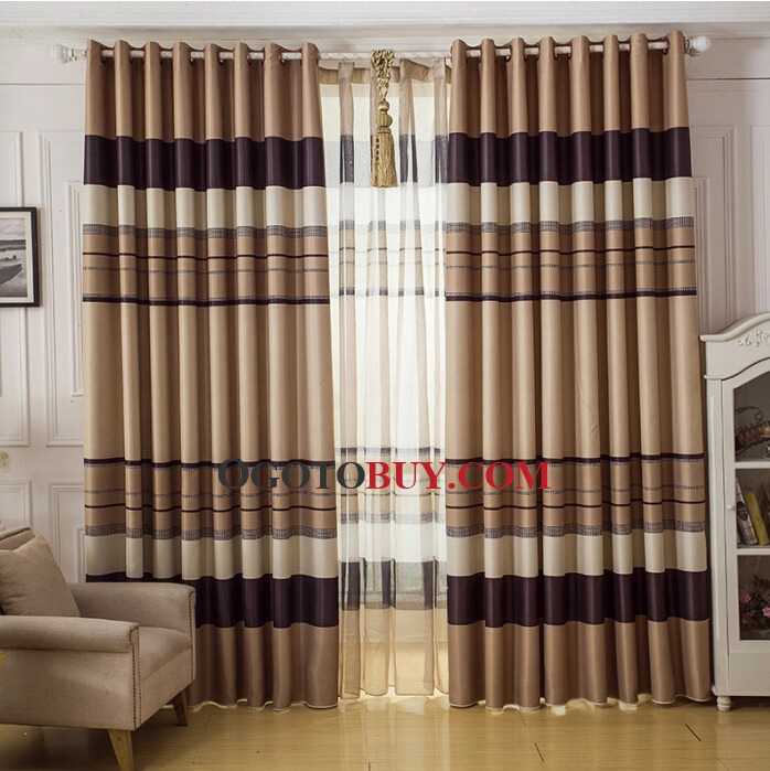 Great Striped Living Room Buy Thermal Curtains