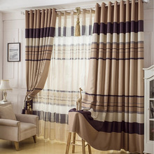 Elite Great Striped Living Room Buy Thermal Curtains