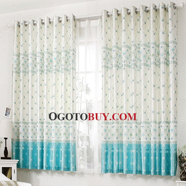 Living Room Curtains With Geometric Patterns For Bay Windows Loading Zoom