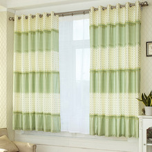 Polka Dots Green Nursery Curtains Boy and Girl