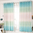 Blue Dreamy Color Short Length Room Dividers Curtains