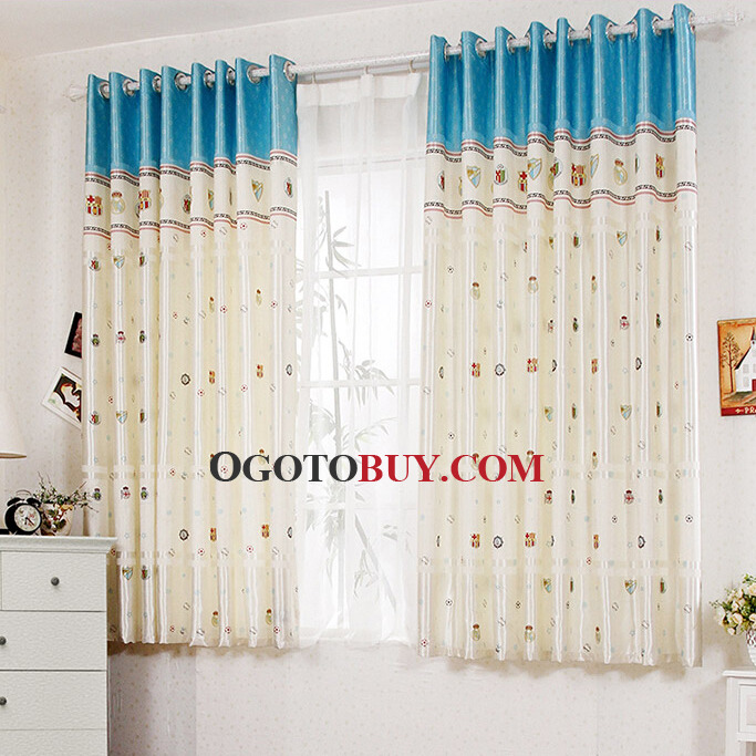 Blue and Beige Colors Curtains As Room Dividers, Buy Multi-color ...