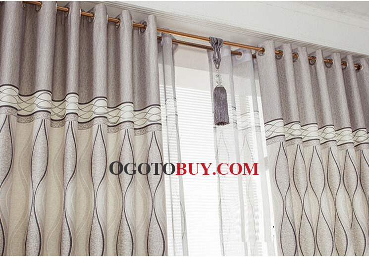... Light Grey Water Wave Patterns Good But Cheapest Curtains