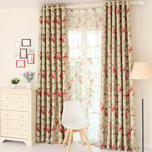 Floral Patterned Colorful Elegant Cheap Blackout Curtains