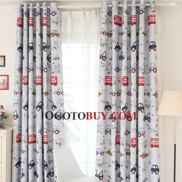 Loading Zoom. Kids Blackout Cartoon Cars Bedroom Curtains ...