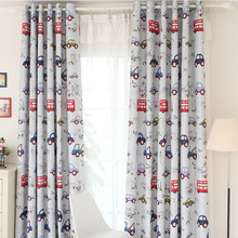Kids Blackout Cartoon Cars Bedroom Curtains UK
