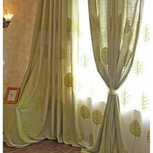 Tree Patterned Comfortable Fabric Ready Made Designer Curtains