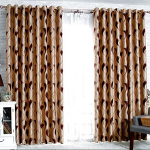 Casual and Primitive Style Curtains in Burgundy Color