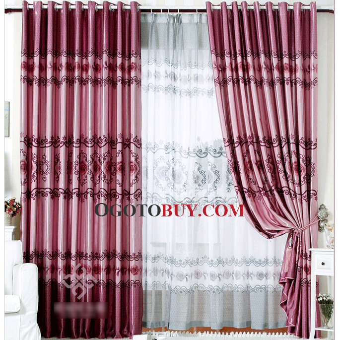 loading zoom floral pattern cheap extra long curtains