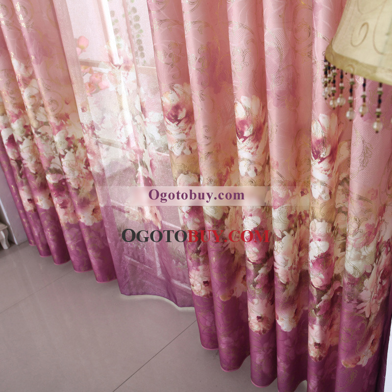 Wide Space Themed Curtains of Flower Patterns for Home, Buy Multi ...