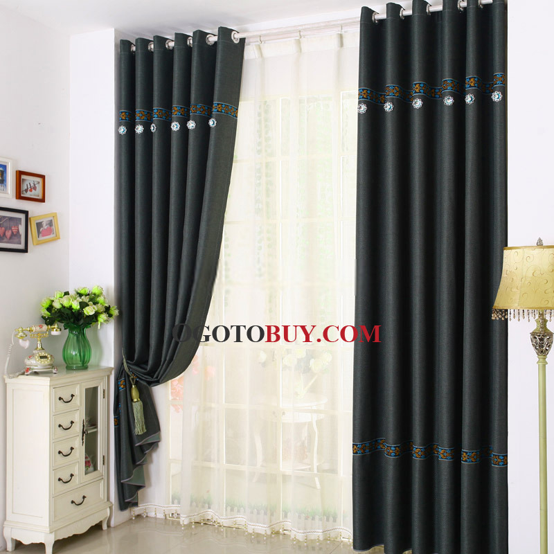 Home or Office Window Curtains in Modern Style , Buy dark green ...