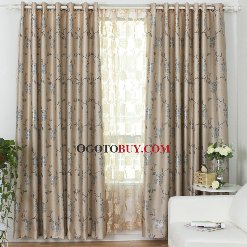 curtains of blue country style for home loading zoom