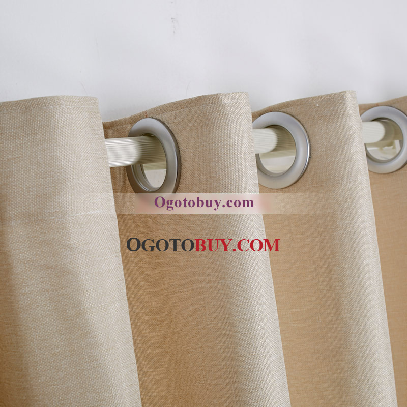 Simple And Modern Embroidery Beige Panel Curtains Uk