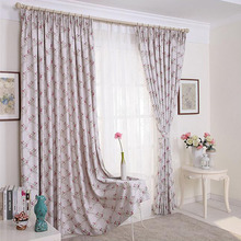Beautiful Romantic Cherry Blossom Floral Pastoral Style Curtain