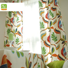 Hot Sale Floral Printed Curtain For Kids Room