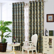 Retro Printed Blackout Curtain for Bedroom