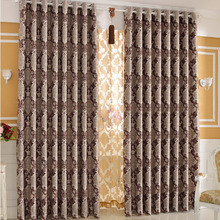 Luxury Jacquard Polyester Thermal Curtain For Living Room and Bedroom