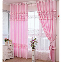 Elegant Embroidery Polyester Curtain For Girls Room