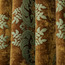 Coffee and Blue Chenille Soundproof Country Style Floral Jacquard Blackout Curtain