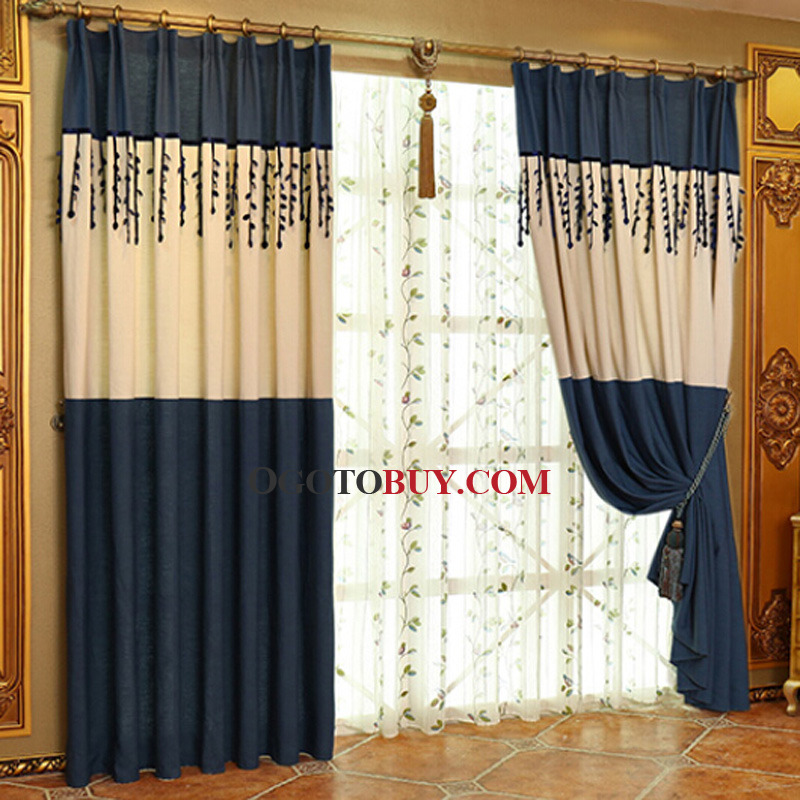 ... Privacy Navy Living Room Curtain. Loading Zoom