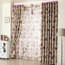 Animal Bear Printed Pattern Polyester Room Darkening Curtain For Kids Room