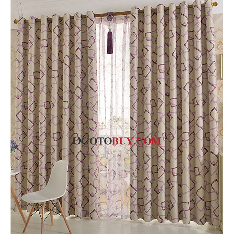 Room Darkening Curtain  Loading zoom. Simple Printed Geometric Pattern Kids Curtain of Room Darkening