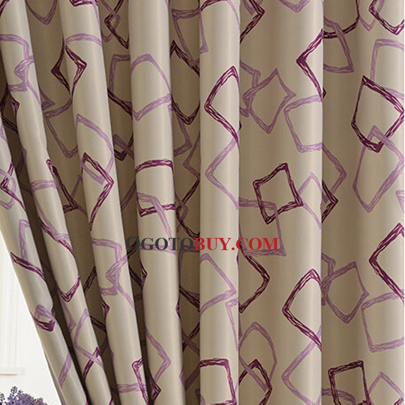 Simple Printed Geometric Pattern Kids Curtain Of Room Darkening - Room darkening curtains for kids