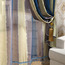 Modern Style Insulated and Privacy Striped Colorful Suede Curtains