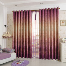 Polyester Thick Oak Tree Printed Light Insulation Room Darkening Curtain