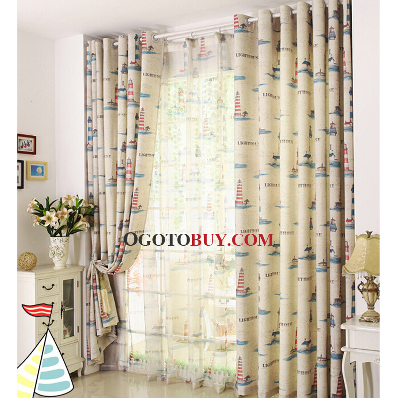 Nautical Style Polycotton Blend Beige Curtains For Kids Bedroom Rhogotobuy: Nautical Curtains For Bedroom At Home Improvement Advice