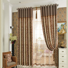 Poly/Cotton Blend Contemporary Style Room Darkening Curtain