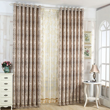 Country Style Linen/Cotton Blend Jacquard Best Blackout Curtains